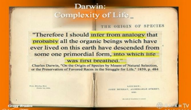 Darwins inferred assumption